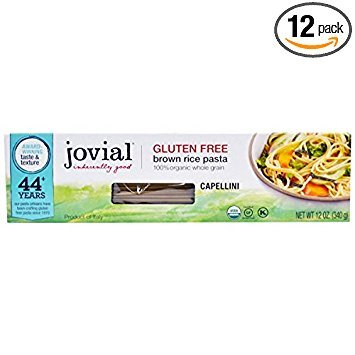 Jovial Organic Brown Rice Capellini Pasta, 12 Ounce -- 12 per case. by Jovial