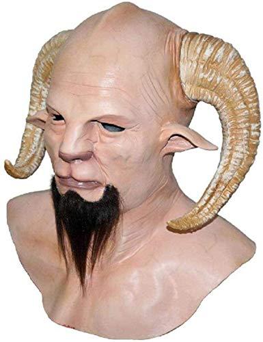 Chunjiao Cuerno del Demonio del Diablo latex mascara Realista Krampus Demonio mascara de Chirstmas del Partido Headwear Complementos Disfraz Horrible 1 Mascaras de Halloween