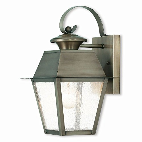Livex Lighting 2162-29 Mansfield 1 Light VPW Outdoor Wall Lantern, Vintage Pewter