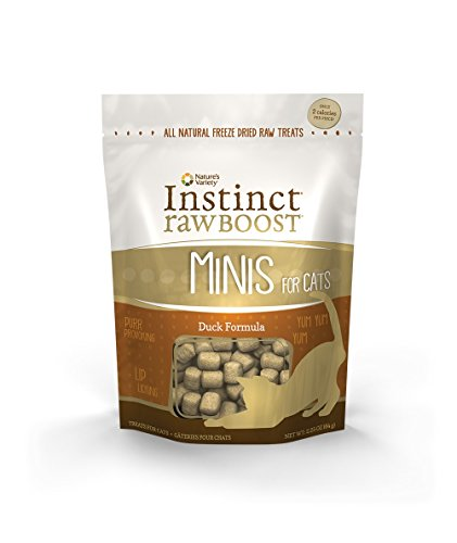Nature's Variety Instinct Raw Boost Grain Free Duck Formula Freeze Dried Minis Cat Treats, 2.25 oz. Bag