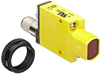 Banner SM31RQD Mini Beam Photoelectric Sensor, Opposed Mode Receiver, 4-Pin Euro-Style QD Connector, Infrared LED, 10-30 VDC Supply Voltage, Bipolar (NPN and PNP) Output, 3 m Sensing Range