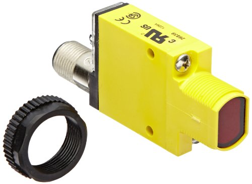 Banner SM31RQD Mini Beam Photoelectric Sensor, Opposed Mode Receiver, 4-Pin Euro-Style QD Connector, Infrared LED, 10-30 VDC Supply Voltage, Bipolar (NPN and PNP) Output, 3 m Sensing Range ()