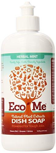 Eco-Me Natural Liquid Dish Soap, Herbal Mint, 16 Fluid Ounce