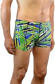 Adoretex Men's Printed Swim Brief Square Leg Shorts Swim