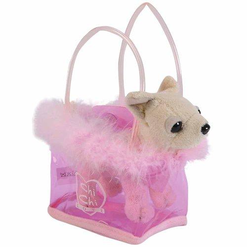Simba 105891717 - Chi Chi Love Plüschhund 14cm mit rosa Tasche