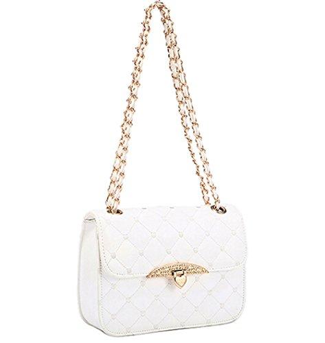 KISS GOLD(TM) Elegant Lady's Check Pattern Chain Strap Shoulder Bag (Jean Purse Pattern)