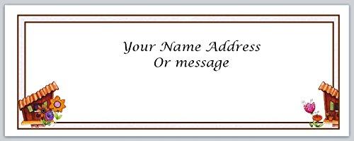 (120 Personalized Address Labels Primitive Country Birdhouse (c 455))
