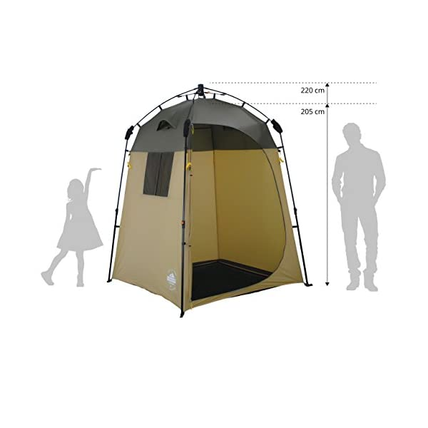 41LJ0y CH8L Lumaland Outdoor Where Tomorrow Pop Up Duschzelt Umkleidezelt Toilettenzelt Stehzelt Camping 155x155x220 cm robust