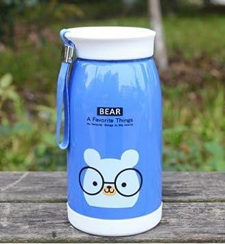 Creado Animal botella de plástico/cable estudiante gran triple taza/botella de dibujos animados a los niños, Deep Blue bear: Amazon.es: Deportes y aire ...