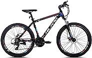 Hiland 26'' Aluminum Mountain Bike 24 Speeds with Shimano Disc Brake,16.5/18 /19.5 Fr