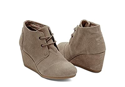 TOMS Desert Wedge Boot - Women's (5 B(M) US, Taupe-Suede)