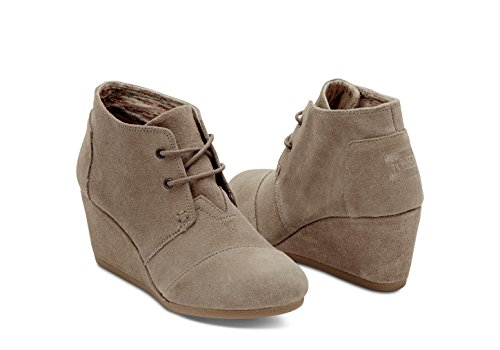 Toms Desert Wedge Boot - Women's (7 B(M) US, Taupe-Suede) (Toms Boots For Women)