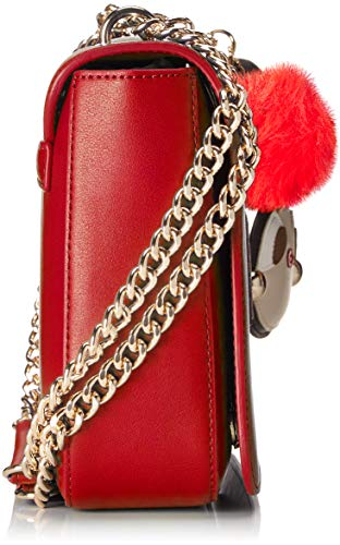 Rosso Satchel Borsa Moschino Pu Red Women's Love Tq74pn