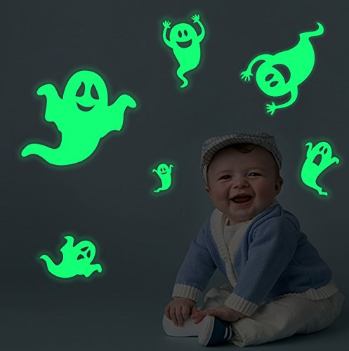 Smilelane Ghosts Halloween Decorations Wall Stickers Glow in