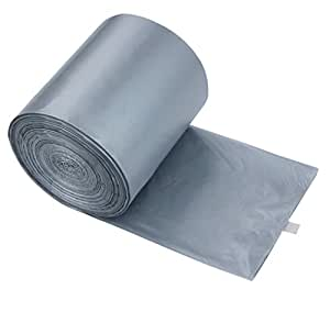 anbers 4 gallon small trash can liners grey 140 counts kitchen dining. Black Bedroom Furniture Sets. Home Design Ideas