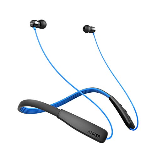 Anker SoundBuds Lite Bluetooth Headphones, Wireless Lightweight Neckband Headset, IPX5 Water Resistant Sport Earbuds with Noise Cancelling and Built-in Mic