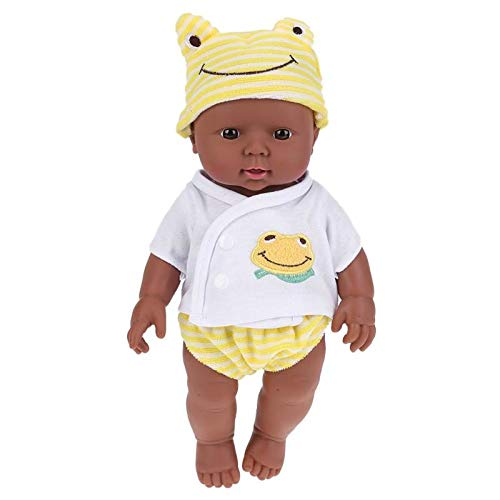 30cm/11.8in Lifelike Reborn Toddlers Doll Silicone Full Body Realistic Doll with Frog Cap