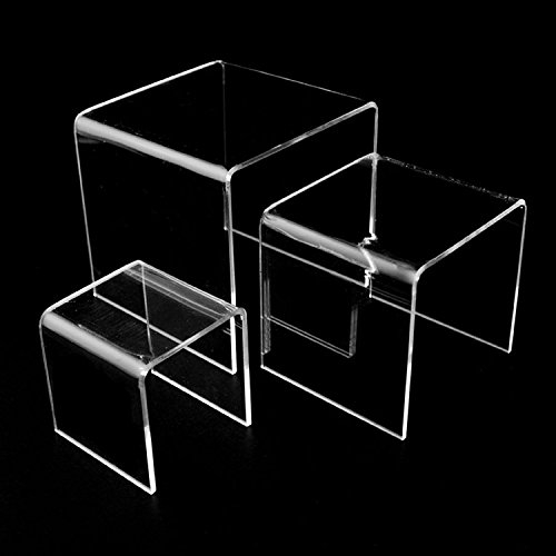 Adorox Top Quality (2 Set) Clear Acrylic Display Riser by Adorox (Image #2)