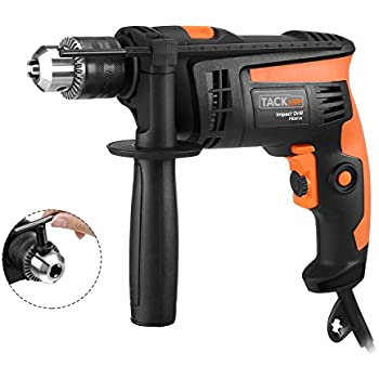 TACKLIFE PID01A Hammer Drill/drills Dual Mode 1/2 In. Powerful Lightweight Reversible with Variable Speed Trigger, Speed Setting Knob for Wood, Steel, Masonry