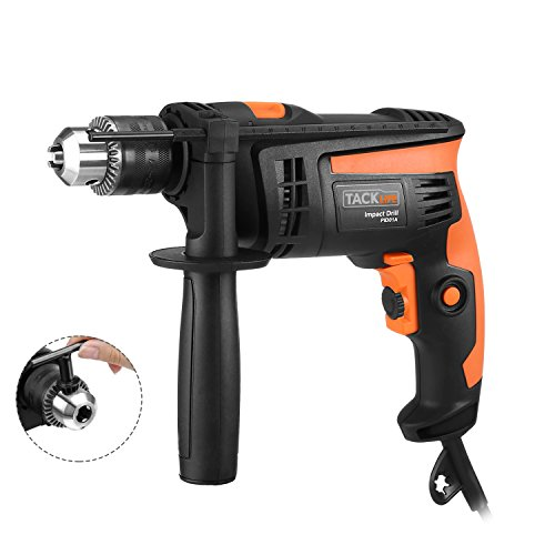 Dual Drill (TACKLIFE PID01A Hammer Drill/drills Dual Mode 1/2 In. Powerful Lightweight Reversible with Variable Speed Trigger, Speed Setting Knob for Wood, Steel, Masonry)