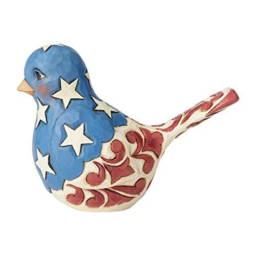 Enesco Jim Shore Heartwood Creek Red White and Blue Bird Figurine]()
