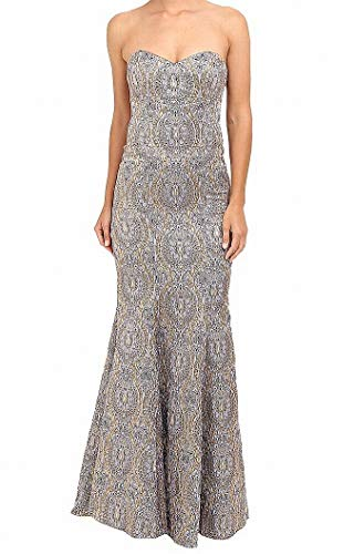 Nicole Miller Women's Dakota Embroidered Gown Lilac Multi Dress 4