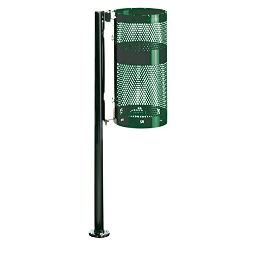 - Rubbermaid Commercial Towne Steel Pole/Wall Mount Trash Can, 10 Gallon, Empire Green, FGH1NEGN