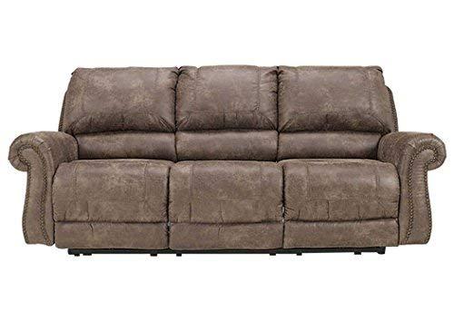 Ashley Furniture Signature Design - Oberson Manual Recliner Sofa - Pull Tab Reclining - Gunsmoke