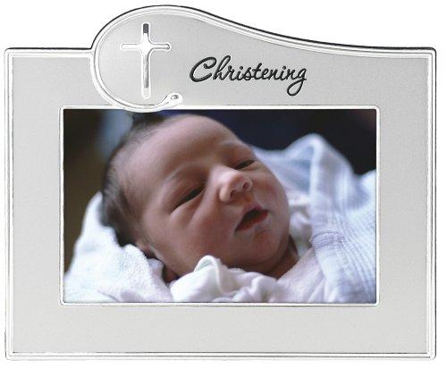 - Malden International Designs Baptism Christening Wave 2-Tone Picture Frame, 4x6, Silver