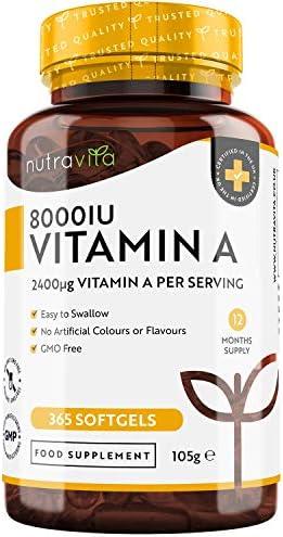 Vitamina A 8000 UI – Suministro para 1 año –