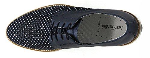 Pelle Giardini 5223 Traforata 207 Scarpe Blu Stringate in P805223D Blu Nero 0wHfqdH