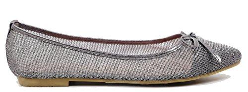 Walstar Mujeres Flat Zapatos Wedding Nupcial Flats Peltre