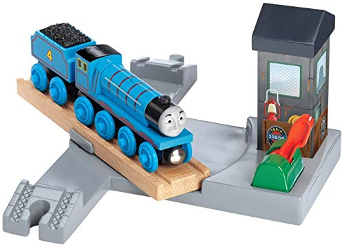 Gordon and Turntable Station - Thomas Wooden Railway Tank Engine Train Loose (Thomas And Friends Iron Arry And Bert)