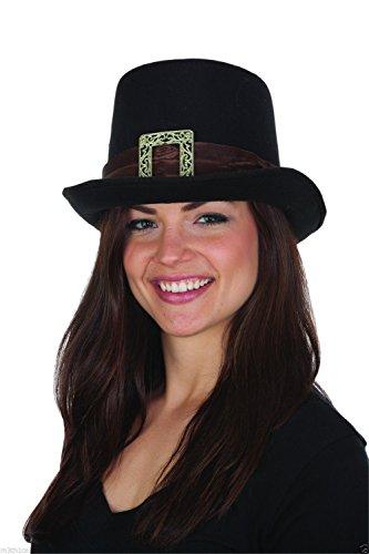 Felt Big Buckle Pilgrim Top Hat -