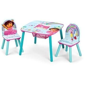 Amazon.com: Nickelodeon Dora the Explorer Storage Table and Chairs ...