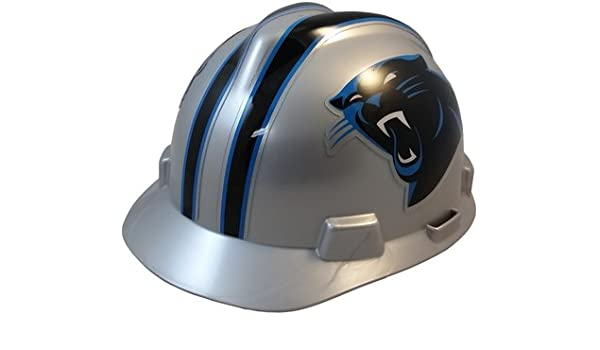 d49347e0 MSA NFL Team Safety Helmets with One-Touch Adjustable Suspension and Hard  Hat Tote - Carolina Panthers