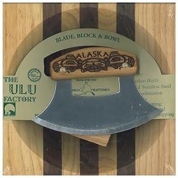 Alaska Ulu Bowl Set Birch Handle Totemic