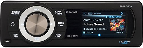 (Aquatic AV AQ-MP-5UBT-H Factory Harley Davidson Replacement AM/FM Radio with 3