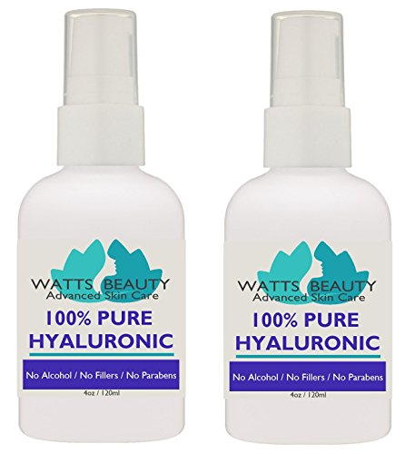 Anti Aging Wrinkle Serum of 100% Pure Hyaluronic Acid for Face - No Alcohol, No Parabens, Vegan & USA - HA Is Not a Harsh Acid, HA is Present in Every Area of Our Body and Simply Decreases with Age Ca