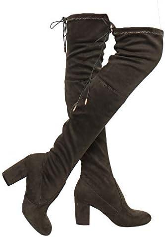 Knee Chunky Block Heel Boots