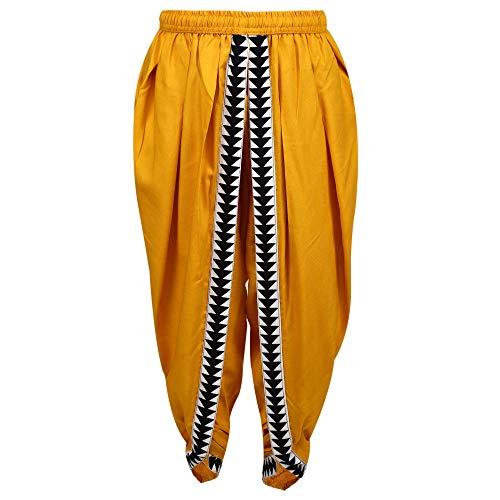 Amazon com: Mustard Color Rayon Dhoti Pant, Dhoti Salwar