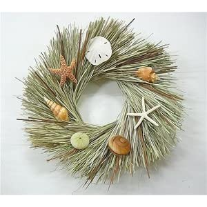 41LJ6CmAFxL._SS300_ 70+ Beach Christmas Wreaths and Nautical Wreaths