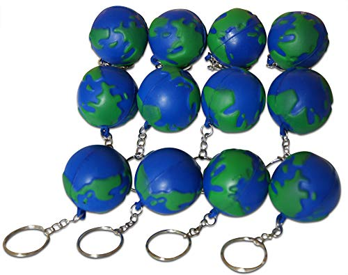 Novel Merk Earth Day World 12-Piece Keychains for Party Favors & School Carnival Prizes]()