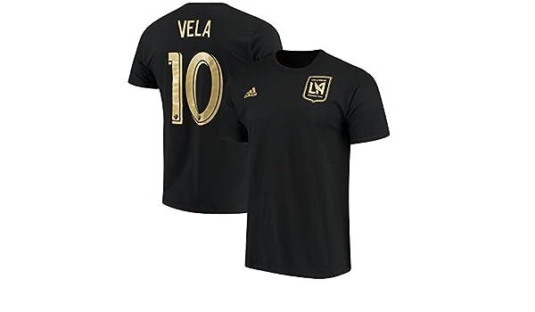 Adidas Hombres de los Angeles FC Carlos Vela # 10 Camiseta De Color Negro, Negro: Amazon.es: Deportes y aire libre