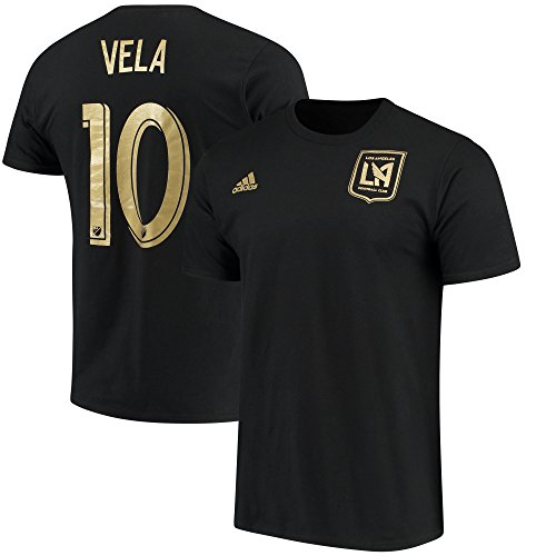 adidas Carlos Vela Los Angeles FC #10 Youth Player T-shirt Black (Youth Large (Black Youth Players T-shirt)