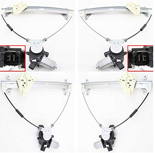 Set Of 2 for Honda Accord 03-07 Front Right and Left Side Power W/Motor 2-Door Coupe (Honda Accord Coupe 2005)
