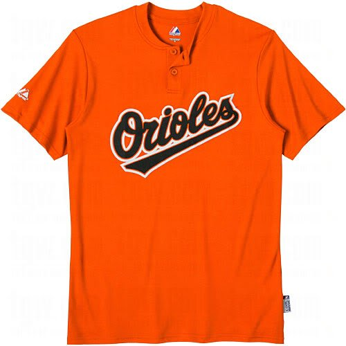 (Baltimore Orioles (ADULT 2X) Two Button MLB Officially Licensed Majestic Major League Baseball Replica Jersey)