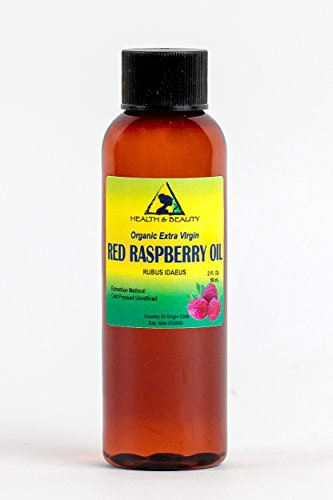 Red Raspberry Seed Oil Organic Unrefined Extra Virgin Cold Pressed by H&B OILS CENTER Pure 2 oz