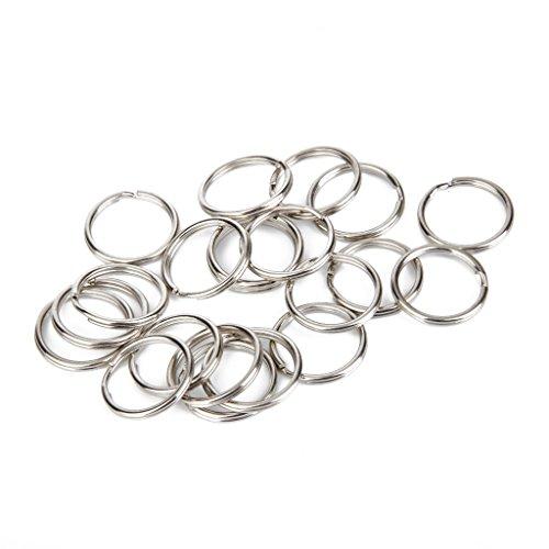 100pcs Split Key Rings 1.5 x 20mm Silver (Split Key Rings 20mm compare prices)