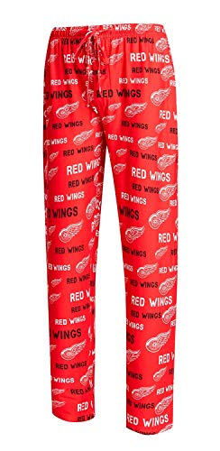 Concepts Sport Detroit Red Wings Men's Pajama Pants Midfield Sleep Pants (Large) Concept Sports Detroit Red Wings